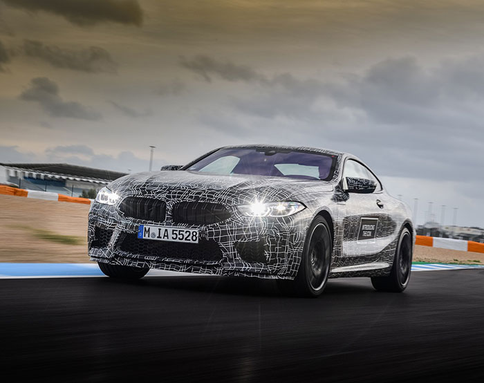 the new bmw m8 en route to series production arabwheels. Black Bedroom Furniture Sets. Home Design Ideas